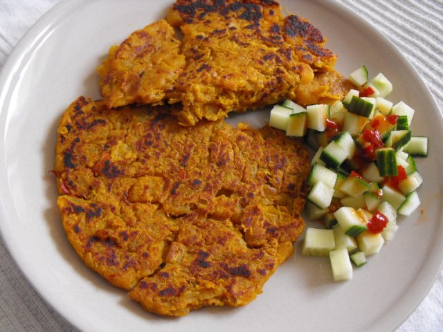 sweet potato gram flour pancakes