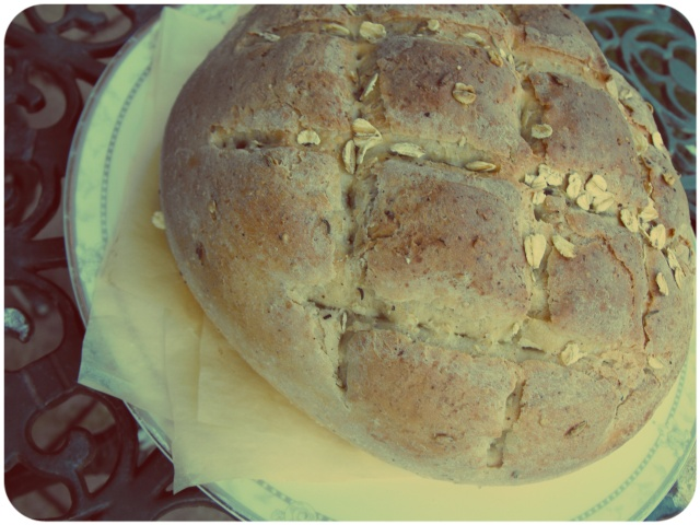 Fennel agave oat bread