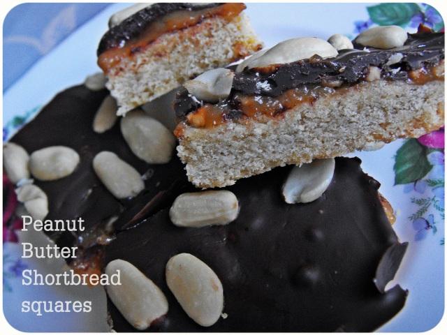 peanut butter shortbread squares