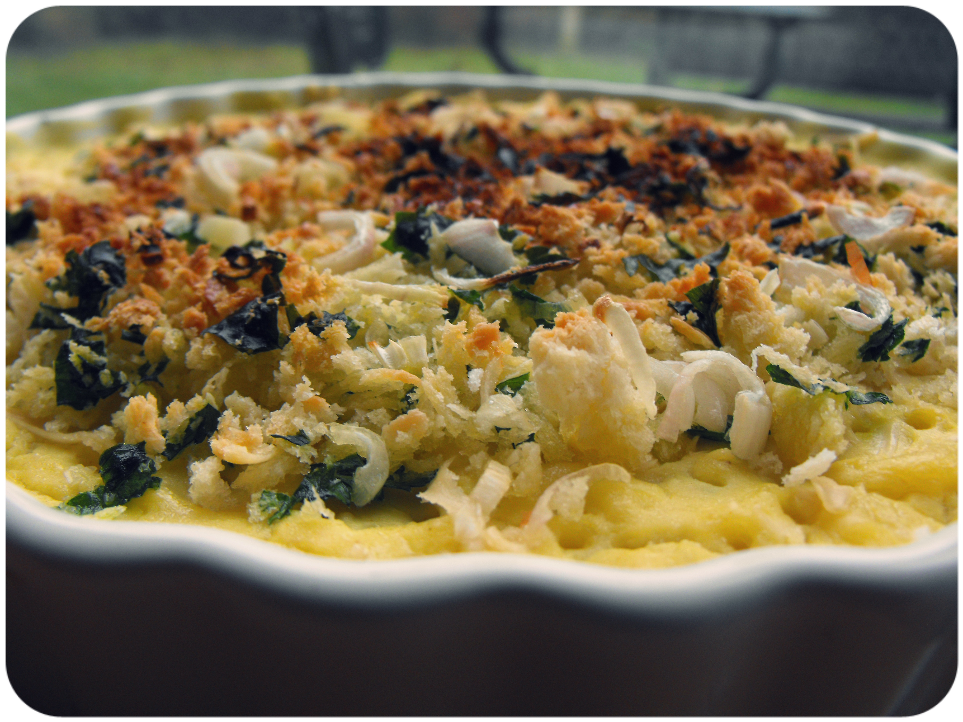 Garlic and herb mac n' cheese bake. | In Vegetables We Trust