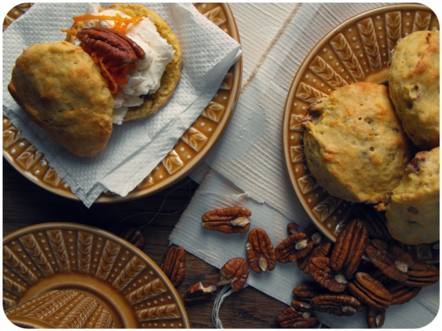 pecan and orange scones vegan