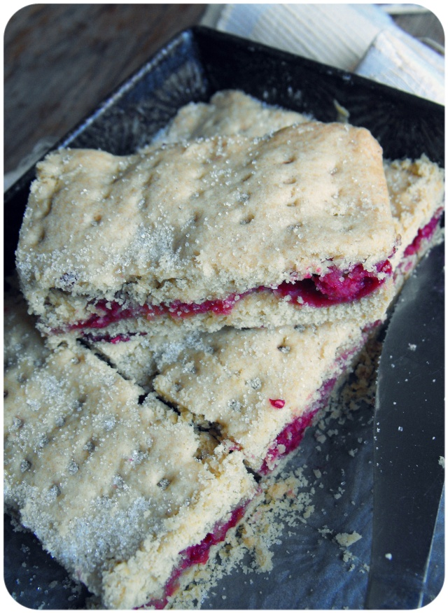 vegan raspberry shortbread slice cholesterol free food recipe
