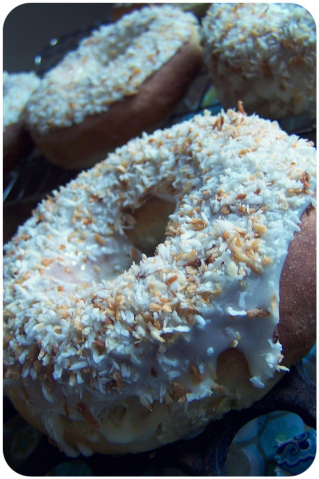doughnuts frosted coconut 1