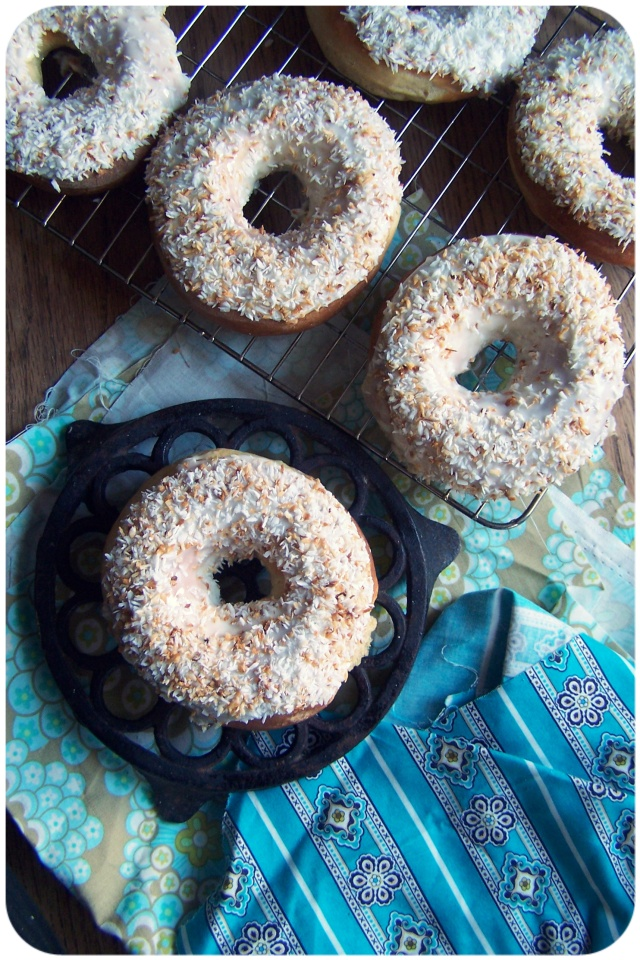 doughnuts frosted coconut 3