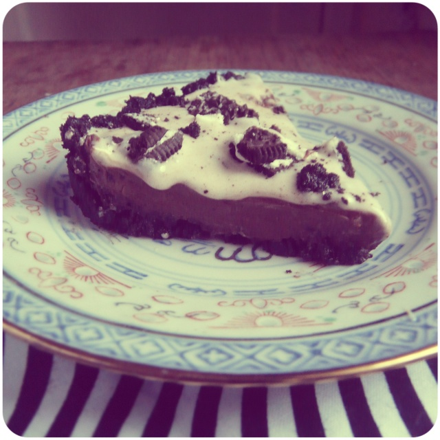 Chocolate silk- oreo cheese cake 2