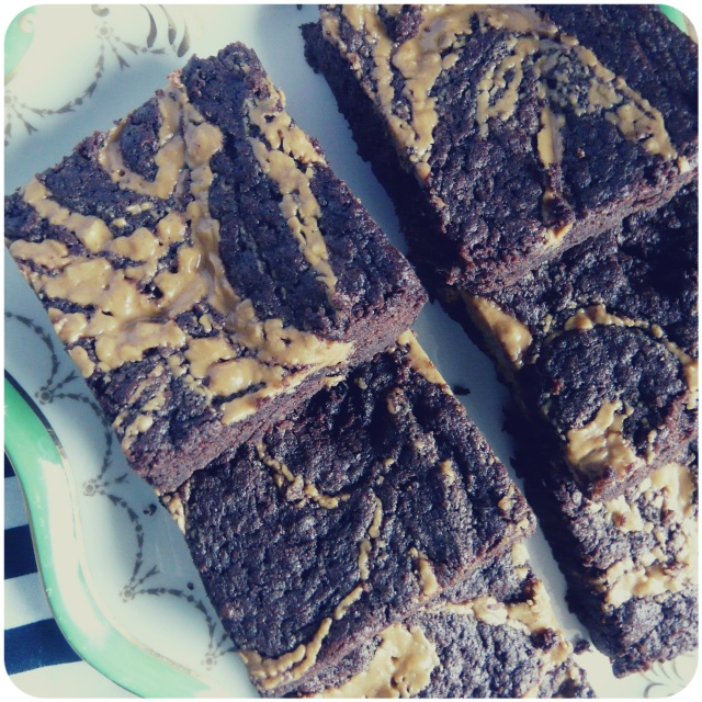 vegan peanut butter swirl brownies 5