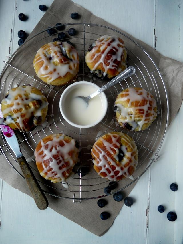 bluberry lemon vegan brioche muffins